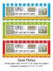 5th Grade Common Core Editable Desk Plates: Stripes (4th G