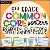 5th Grade EDITABLE Essential Questions & Learning Goals