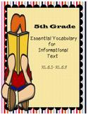 5th Grade Common Core Essential Vocabulary Reading Informa