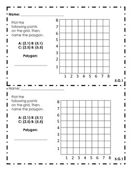 5th Grade Common Core Math Exit Slips Assessment Geometry - 5.G