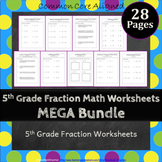5th Grade Fractions Worksheets 5NF Worksheets 5th Grade Fractions Worksheet Pack