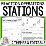 Fraction Operation Stations: 4.NF.2, 5.NF.1, 5.NF.2, 5.NF.4, 6.NS.1
