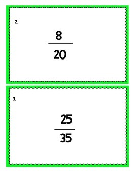5th Grade Common Core Fraction Task Cards Bundle