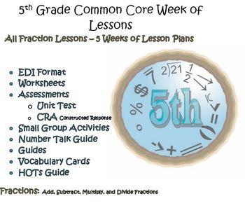 5th Grade Common Core Fractions Bundle