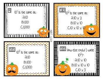 5th Grade Common Core HALLOWEEN Task Cards & Riddles