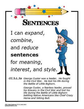 """5th Grade Language """"I Can"""" Posters (21 FULL COLOR Posters!)"""