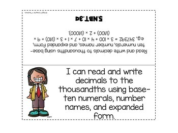 "5th Grade Common Core ""I Can"" Standards Posters {MATH ONLY}"