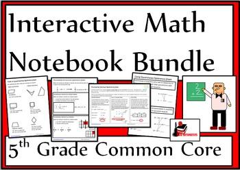 5th Grade Common Core Interactive Math Notebook Bundle