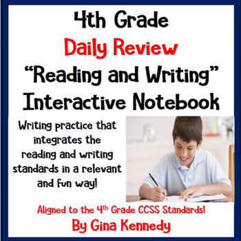 4th Grade Daily Reading & Writing Review Practice, Perfect Morning Work!