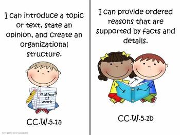 "5th Grade Common Core Language Arts ""I Can Statements"""
