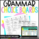 5th Grade Common Core Language Choice Boards {All Language CCSS}