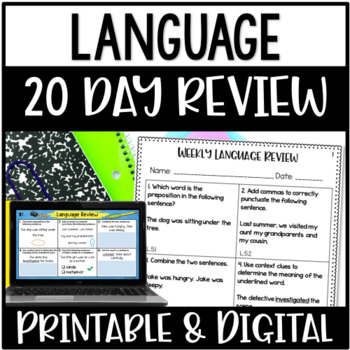 5th Grade ELA Review | CCSS Language Review