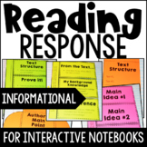 Reading Response Interactive Notebook {Common Core: Inform