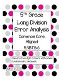 5th Grade Common Core Long Division Error Analysis