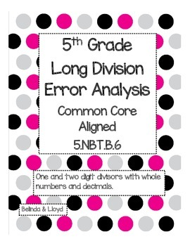 5th Grade Common Core Long Division Error Analysis