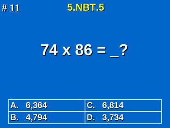 5th Grade Common Core Math - Fluently Multiply Multi-digit Whole Numbers 5.NBT.5