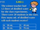 5th Grade Common Core Math 5 MD.1 Convert Measurement Unit