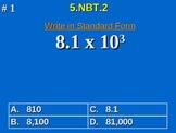 5th Grade Common Core Math 5 NBT.2 Multiply & Divide By A Power Of 10 5.NBT.2