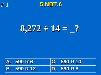 5th Grade Common Core Math 5 NBT.6 Find Quotients of Whole Numbers 5.NBT.6