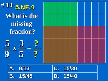 5th Grade Common Core Math 5 NF.4 Multiply Fractions 5.NF.4