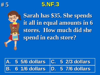 5th Grade Common Core Math 5 NF.3 Division of Fractions Word Problems 5.NF.3