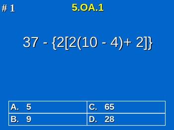 5th Grade Common Core Math 5 OA.1 Evaluate Numerical Expressions 5.OA.1
