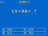 5th Grade Common Core Math Add, Subtract, Multiply Divide Decimals 5.NBT.7