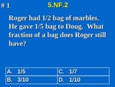 5th Grade Common Core Math Addition & Subtraction Fraction Word Problems 5.NF.2