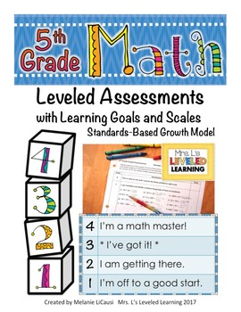 5th Grade Math Assessment with Learning Goals and Scales - EDITABLE LEVELS