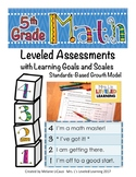 5th Grade Math Assessment with Learning Goals and Scales -