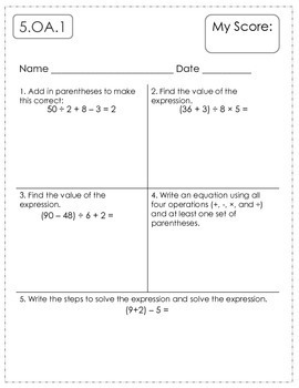 5th Grade Math Assessments Tpt