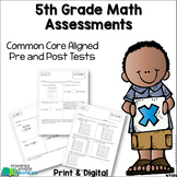 5th Grade Math Assessments {Pre & Post Tests} Distance Learning