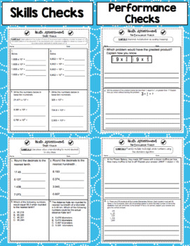 Common Core Math Assessments - 5th Grade