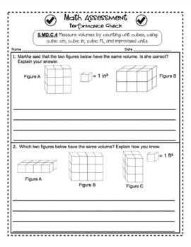 5th Grade Common Core Math Assessments: Measurement and Data
