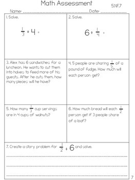 5th Grade Common Core Math Assessments