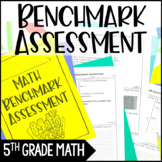 5th Grade Math Benchmark Assessment {All 5th Grade Common Core Math Standards}
