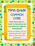 5th Grade Common Core Math Book-place value,exponents,order of operations,more!