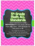 5th Grade Common Core Math Bundle *ALL STANDARDS*