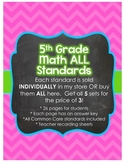 5th Grade Common Core Math Bundle *ALL STANDARDS*