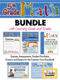 5th Grade Math Bundle with Learning Goals and Marzano Scales - EDITABLE