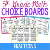 5th Grade Math Choice Boards {Fractions} Google Classroom