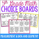 5th Grade Common Core Math Choice Boards {Measurement & Da