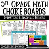 Math Choice Boards {Operations & Algebraic Thinking} Dista