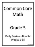 5th Grade Common Core Math Daily Review Bundle Weeks 1-35