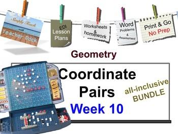Week 10 Coordinate Pairs 5th Grade Common Core Math EDI Lesson Plans