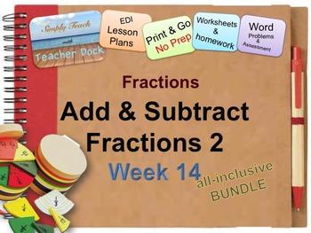 Week 14 Fractions 5th Grade Common Core Math EDI Lesson Plans