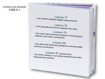 Week 16 Measurement 5th Grade Common Core Math EDI Lesson Plans