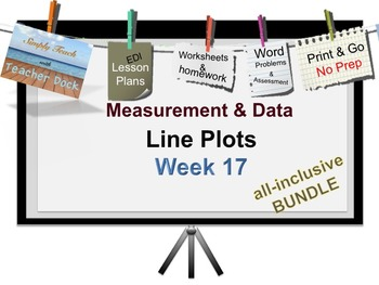 Week 17 Line Plots 5th Grade Common Core Math EDI Lesson Plans