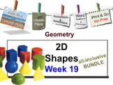 Week 19 2-D Shape Attributes 5th Grade Common Core Math EDI Lesson Plans