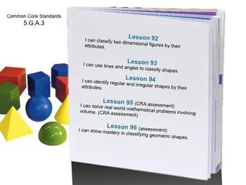 Week 19 2-D Shape Attributes 5th Grade Common Core Math EDI Lesson Plans